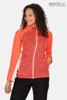 Regatta Orange Walbury Full Zip Hooded Fleece Jacket