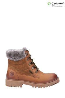 Cotswold Brown Spelsbury Fleece Lined Boots