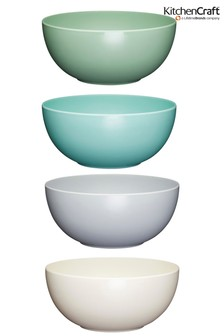 Set of 4 Kitchencraft Colourworks Classic Melamine Bowls