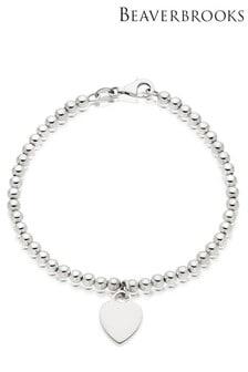 Beaverbrooks Silver Ball Heart Bracelet
