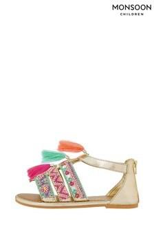 Monsoon Lana Tassel Bright Beaded Sandals