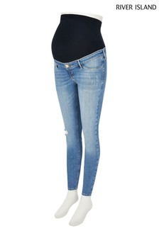 River Island Molly Maternity Palm Over Bump Jeans