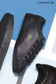 Lacoste® Straightset Black Trainer