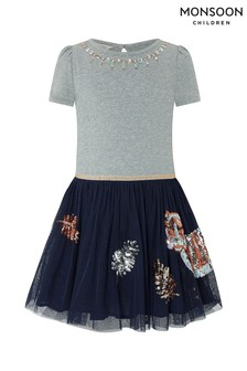 Monsoon Children Grey Disco Tiger Dress