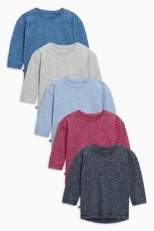 Wizzy langärmelige T-Shirts mit Streifen im 5er-Pack (3Monate bis 6Jahre)
