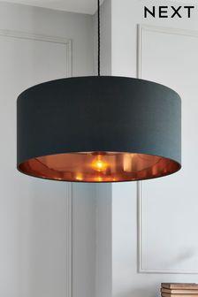 Серый/медный светильник с простым монтажом