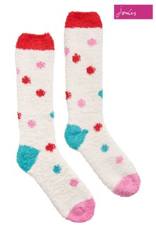 Joules Cream Fabulously Fluffy Super Soft Socks