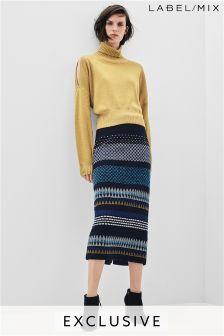 Mix/Teatum Jones Geo Jacquard Pencil Skirt