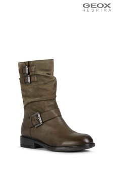 Geox Woman's Catria Olive Boots