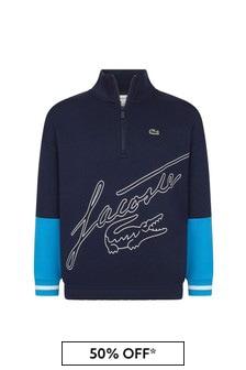 Lacoste Kids Boys Navy Cotton Sweater