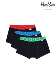 Happy Socks Black/Multi Trunks Three Pack