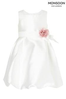 Monsoon Baby Natural Pearl Puffball Dress