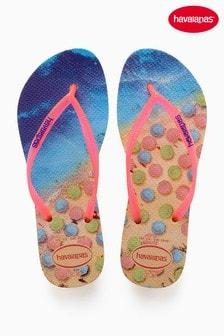 Havaianas® Beach Print Flip Flop