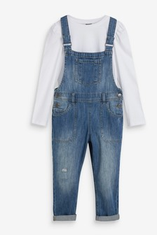 Dungarees Set With T-Shirt (3-16yrs)