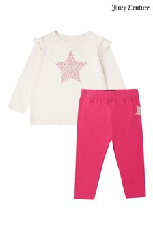 Juicy Couture Leopard Star T-Shirt & Legging Set