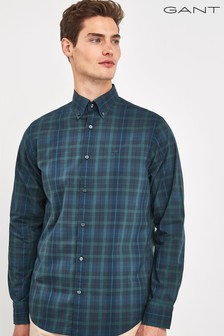 GANT Green Tech Prep Broadcloth Plaid Regular Shirt