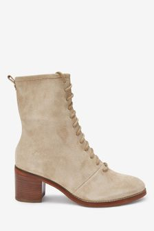 Forever Comfort® Lace-Up Block Heel Boots