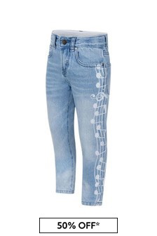 Boys Blue Denim Music Notes Jeans