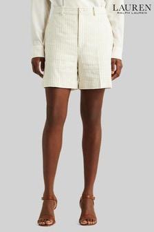 Lauren Ralph Lauren® Cream Stripe Linen Vamyra Shorts