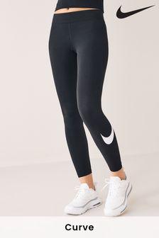 Nike Sportswear Black Essential Mid Rise Swoosh Leggings