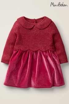 Boden Red Scallop Knitted Dress