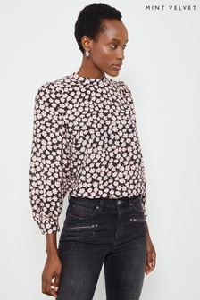 Mint Velvet Elle Floral Puff Sleeve Top