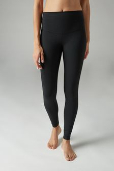 Figurformende Cropped Sportleggings mit hoher Taille