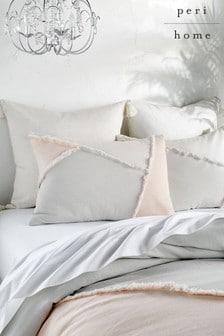 Set of 2 Peri Home Colourblock Fringe Pillowcases
