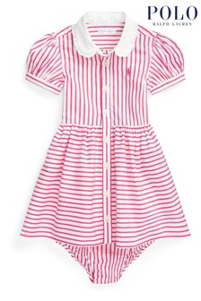 Ralph Lauren Pink Stripe Dress