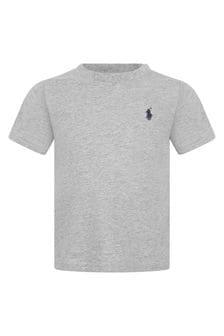 Ralph Lauren Kids Baby Boys Grey Cotton Jersey T-Shirt