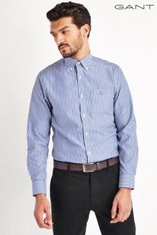 GANT Blue Broadcloth Stripe Shirt