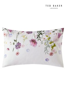 Set of 2 Ted Baker Hedgerow Floral Cotton Pillowcases