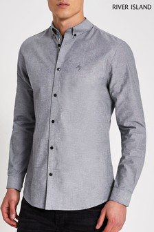 River Island Grey Oxford Shirt