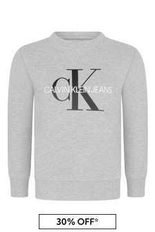 Grey Monogram Logo Sweater