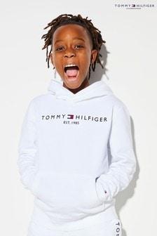 Tommy Hilfiger White Essential Logo Hoody