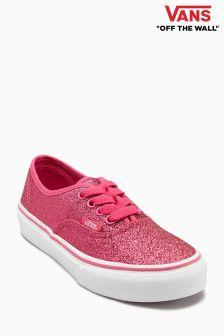 Vans Pink Glitter Authentic