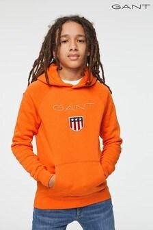 GANT Teen Boys Orange Shield Hoodie