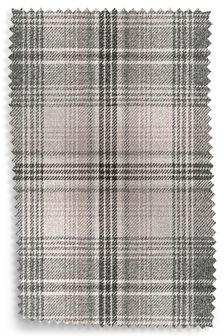 Versatile Check Nevis Grey Upholstery Fabric Sample