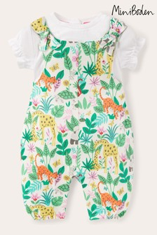 Boden Natural Bow Detail Romper Set