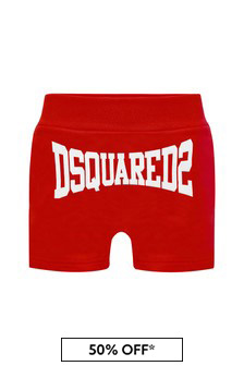 Dsquared2 Kids Baby Boys Red Cotton Shorts
