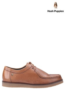 Hush Puppies Tan Will Wallabee Lace-Up Shoes