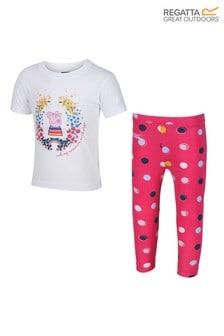 Regatta White/Blush Peppa Pig™ T-Shirt & Leggings Set