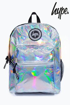 Hype. Silver Holo Utility Backpack