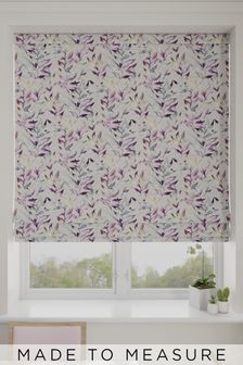 Asara Heather Purple Made To Measure Roman Blind