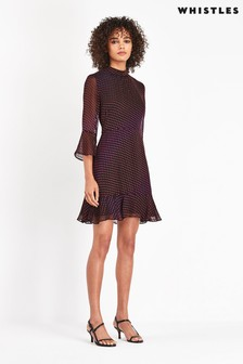 Whistles Gianna Ombre Jacquard Dress