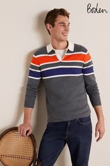 Boden Knitted Rugby Shirt