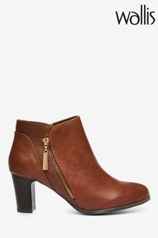 Wallis Arla Tan New Asymmetric Side Zip Boots