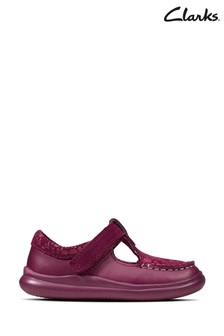Clarks Berry Leather Cloud Rosa T Shoes