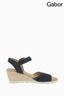 Gabor Nieve Ocean Suede Sandals