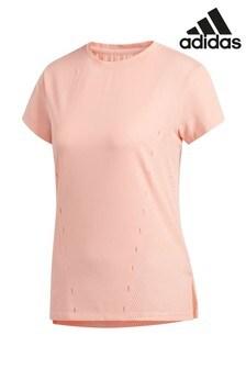 Розовая трикотажная футболка adidas